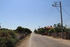 Behramkale, Assos, Egeïsche dorpen stock afbeelding