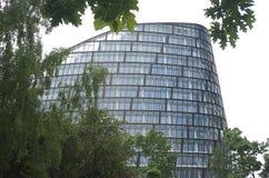 Behulpzaam hoofdkantoor op witte achtergrond, de Stadsce van Manchester stock foto's