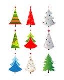 Bei alberi di Natale Fotografia Stock