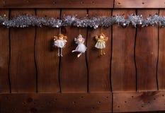 Bei angeli di Natale Fotografie Stock Libere da Diritti