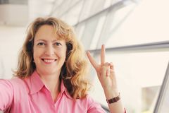 Bei 35 anni della donna Fotografia Stock Libera da Diritti
