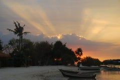 Bei buio/tramonto delle spiagge fotografia stock libera da diritti