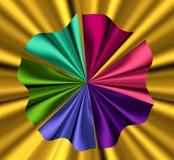 Bei campioni multicolori del tessuto del raso Fotografia Stock
