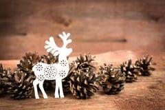 Bei cervi di Natale Fotografia Stock Libera da Diritti