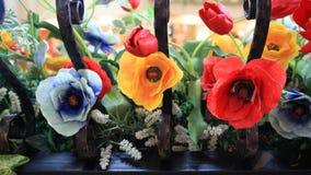 Bei colori dei fiori di plastica Fotografia Stock