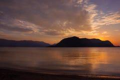 Bei colori della natura sopra il mar Egeo immagini stock libere da diritti