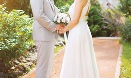 Bei coppie, sposa e sposo di nozze Fotografia Stock Libera da Diritti