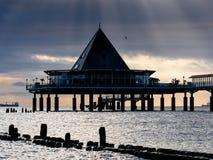 Bei de la salida del sol el mar Imagen de archivo