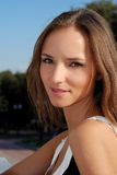 bei della ragazza giovani di estate all'aperto Fotografia Stock Libera da Diritti