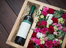 Bei e fiori delicati Fotografia Stock