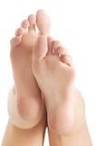 Bei e piedi nudi freschi e puliti. Immagini Stock Libere da Diritti