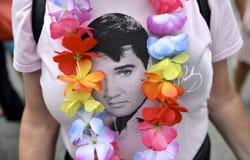 Bei Elvis Presely Festival Stockbild