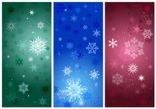 Bei fiocchi di neve di cristallo freddi di gradiente Immagine Stock