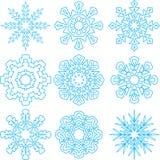 Bei fiocchi di neve messi Fotografie Stock