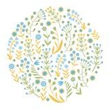 Bei fiori messi, illustrazione di vettore Immagini Stock Libere da Diritti