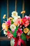 Bei fiori nello stile d'annata Fotografie Stock