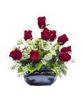Bei fiori rosa artificiali rossi e bianchi Fotografie Stock