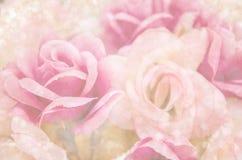 Bei fiori rosa con bokeh leggero Fotografia Stock Libera da Diritti