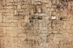Bei fondo e struttura della parete di mattoni Immagini Stock