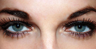 Bei forti occhi Fotografia Stock