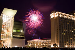 Bei fuochi d'artificio fotografie stock libere da diritti