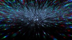 Bei fuochi d'artificio, esplosione variopinta, Big Bang Muovendosi attraverso le stelle Ciclo senza cuciture archivi video