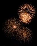 Bei fuochi d'artificio su natale Fotografia Stock