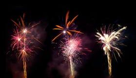 Bei fuochi d'artificio variopinti Immagine Stock Libera da Diritti