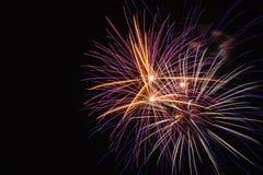 Bei fuochi d'artificio variopinti Fotografie Stock