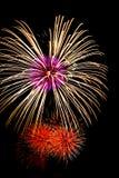 Bei fuochi d'artificio variopinti del fuoco d'artificio per nuovo felice di celebrazione Immagini Stock