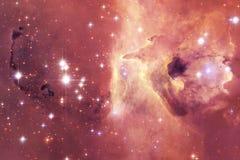 Bei galassia e mazzo delle stelle nella notte dello spazio fotografia stock libera da diritti