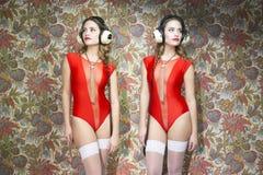 Bei gemelli della discoteca Fotografie Stock