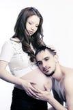 Bei genitori: wefe e marito incinti Fotografie Stock Libere da Diritti