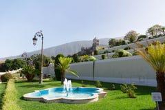 Bei giardini botanici tropicali nella città di La Orotava, Tenerife, fotografie stock libere da diritti