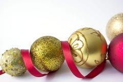 Bei giocattoli per l'albero di Natale Fotografia Stock Libera da Diritti