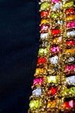 Bei gioielli su fondo nero con il posto per testo Immagini Stock