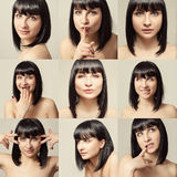 bei giovani della donna del ritratto di modo Fotografia Stock