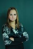 bei giovani dello studio della ragazza fotografie stock libere da diritti