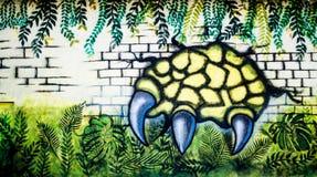 Bei graffiti della parete immagine stock