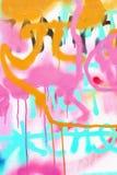 Bei graffiti di arte della via, dettaglio Colori creativi astratti di modo del disegno sulla parete della città Moderno urbano Fotografia Stock Libera da Diritti