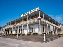 Bei hotel e ristorante cosmopoliti nel ol storico Fotografia Stock