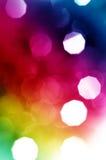 Bei indicatori luminosi astratti di festa Fotografia Stock