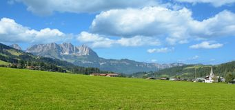 Bei Kitzbuehel de Reith, Tirol, Áustria imagens de stock