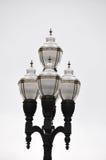 Bei lampioni decorati contro fondo bianco Immagini Stock Libere da Diritti