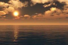 Bei mare e cielo al tramonto Fotografia Stock