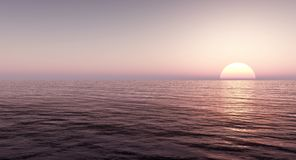 Bei mare e cielo al tramonto Fotografia Stock Libera da Diritti