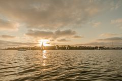 Bei Marina Del Rey segeln, Kalifornien stockfotografie