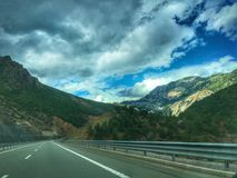 Bei Mountain View dall'Albania Fotografia Stock Libera da Diritti