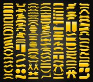 Bei nastri, etichette e progettazione stabilita di vettore della raccolta degli archi Immagini Stock Libere da Diritti