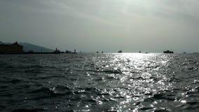 Bei natura dell'acqua di mare e concetto di festa video d archivio